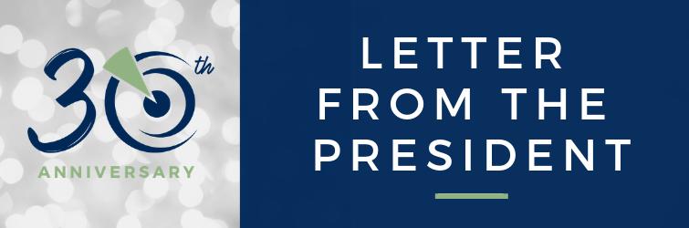 Letter from the President Header